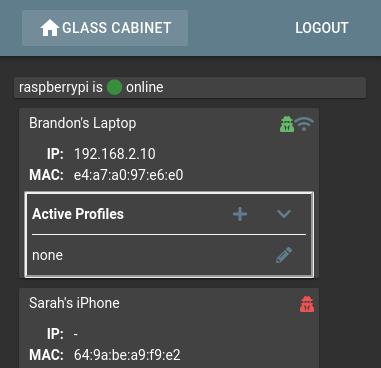 Screen Shot of Glass Cabinet